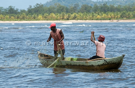 Fishermen near Nosy Mangabe, north-eastern Madagascar