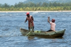 Click to see details of Fishermen near Nosy Mangabe, north-eastern Madagascar