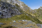 Click to see details of Helicopters at Kakapo Castle, Fiordland National Park, South Isl