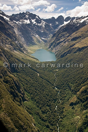 Fiordland National Park, South Island, New Zealand - aerial