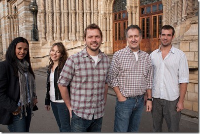 Museum of Life team: (left to right) Liz Bonnin, Kate Bellinghham, Jimmy Doherty, Mark and Chris van Tulleken