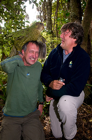 Sirocco the kakapo loves Mark from Last Chance to See